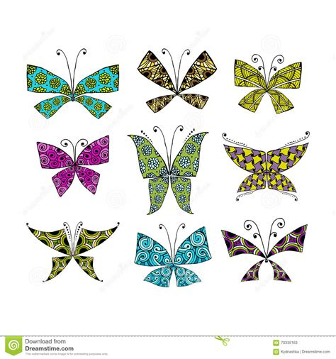 Butterfly Set colorful butterfly set for your design stock vector