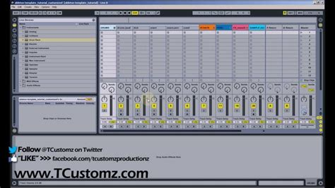 Ableton Live Tutorial How To Customize The Default Template Set Organize Your Beat Session Ableton Set Default Template