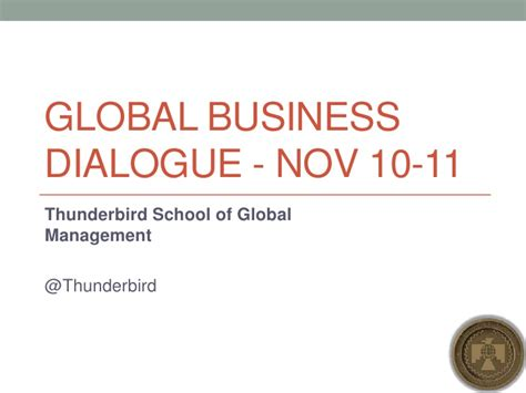 Thunderbird Mba On Demand by Economic Outlook 2012 Shift Happens