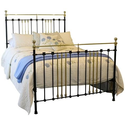 black iron bed brass and iron bed finished in black at 1stdibs