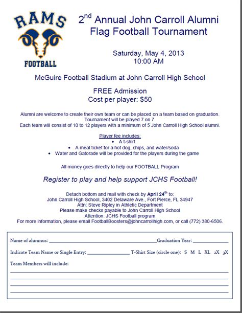 Parent Letter For Youth Football Carroll Catholic High School