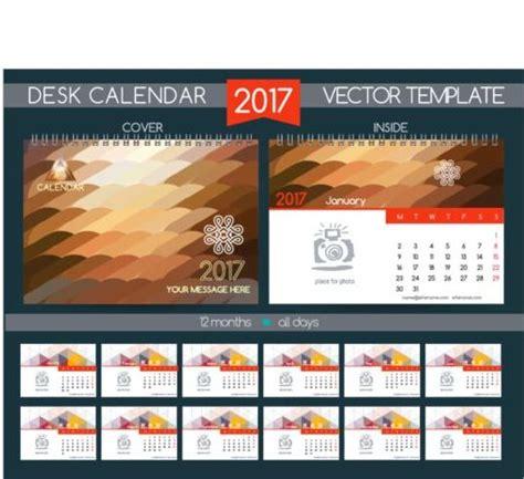 desk calendar design templates company 2017 desk calendar design vector template 12