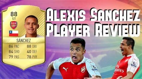 alexis sanchez fifa 18 review 88 striker alexis sanchez player review fifa 17 player