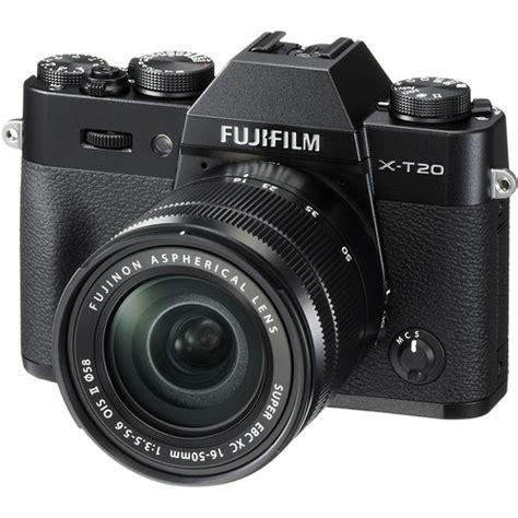 Fujifilm X T20 Mirrorless Digital Only Black fujifilm x t20 mirrorless digital with 16 50mm 16543016