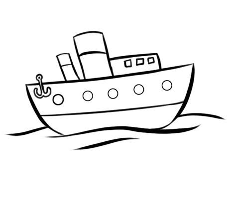 dibujo barco con olas dibujos de barco navegando en el mar para colorear