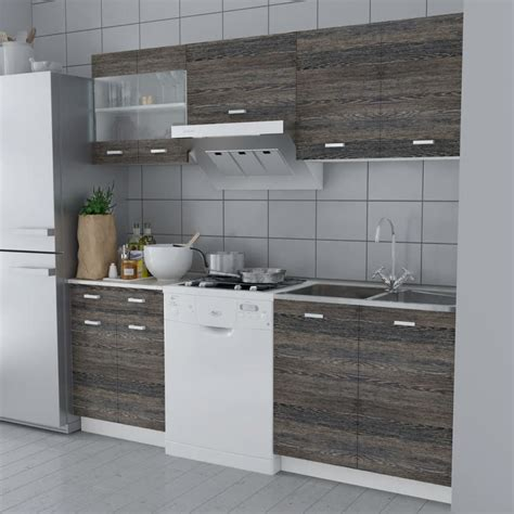 wenge kitchen cabinets wenge look kitchen cabinet unit 5 pcs 200 cm vidaxl co uk