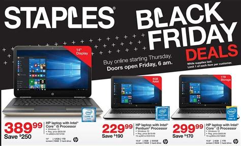 staples black friday ad leaks with cheap windows laptops