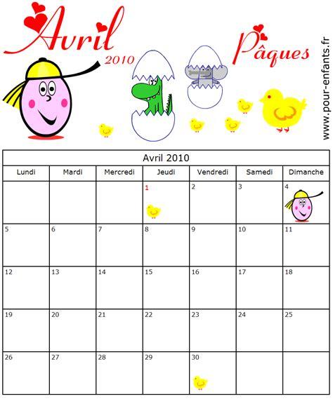 Calendrier Paques Calendrier 224 Imprimer Avril 2010 Date De P 226 Ques Liens 2016