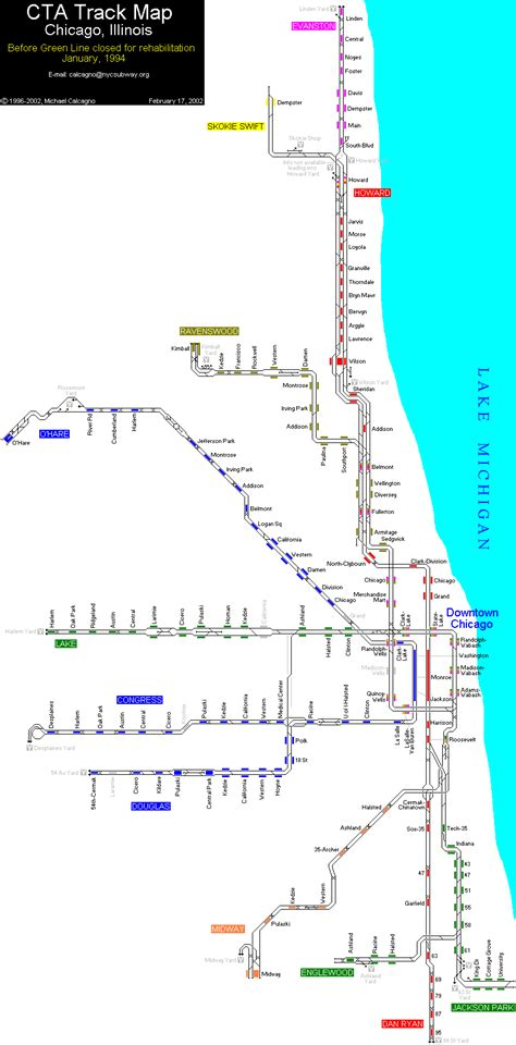 chicago map in r chicago subway map