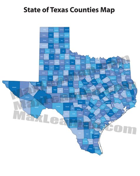 texas county map pdf texas counties map