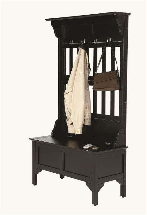hall tree benches with storage home styles hall tree and storage bench by oj commerce 218 50 267 85