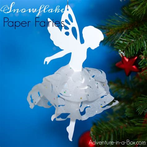 printable christmas tree fairy snowflake paper fairies with a printable template
