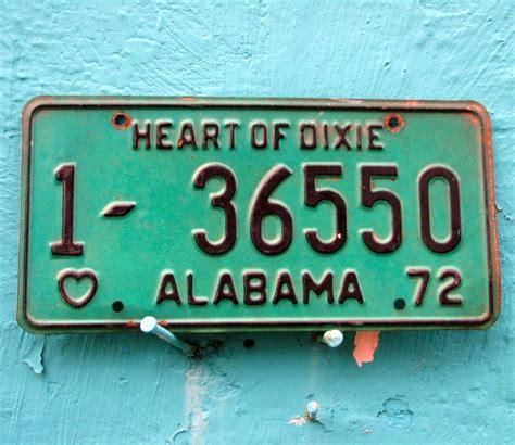 Alabama Vanity Plates by Vintage Alabama License Plate 1981 Yellow Black Of Dixie