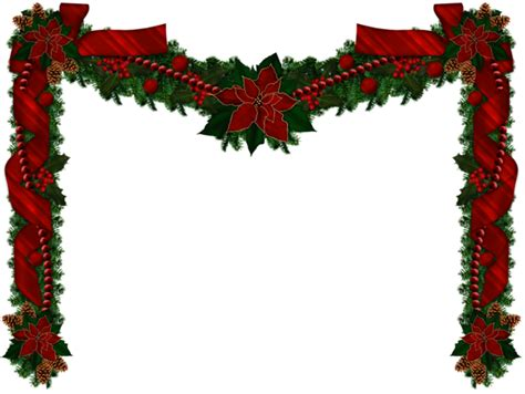 transparent christmas long garland png picture dollhouse