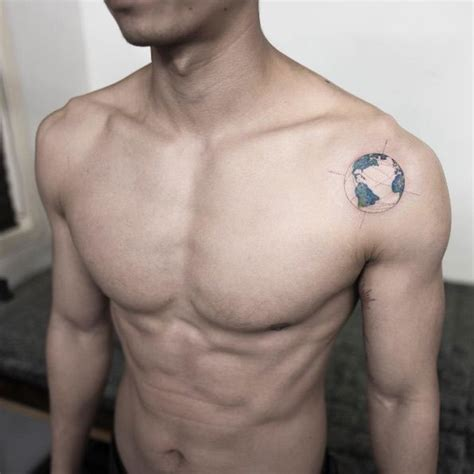 small shoulder tattoos for men 60 inspiring ideas for with creative minds