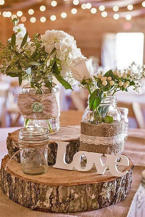 Best 10  Rustic table decorations ideas on Pinterest