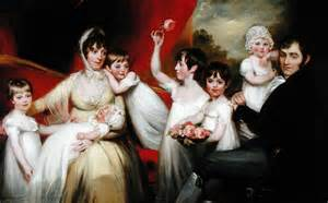 Historical Interior Designers John Lee And His Family 1800 Painting John Russell Oil