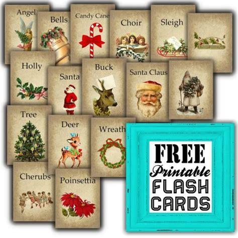 printable christmas vintage free printable christmas themed flash cards by sweetly