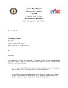 Letter Of Intent Exles For Teachers Letter Of Intention