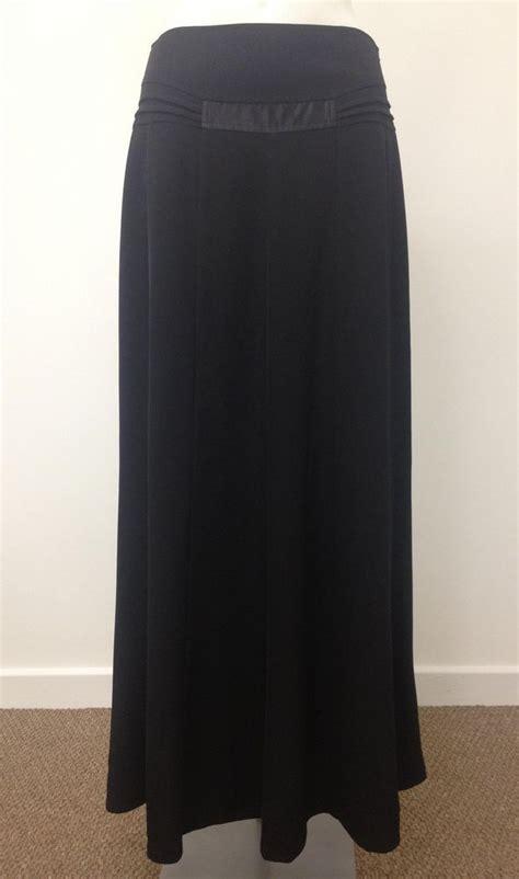 formal black maxi skirt length l39 42 uk 10 12