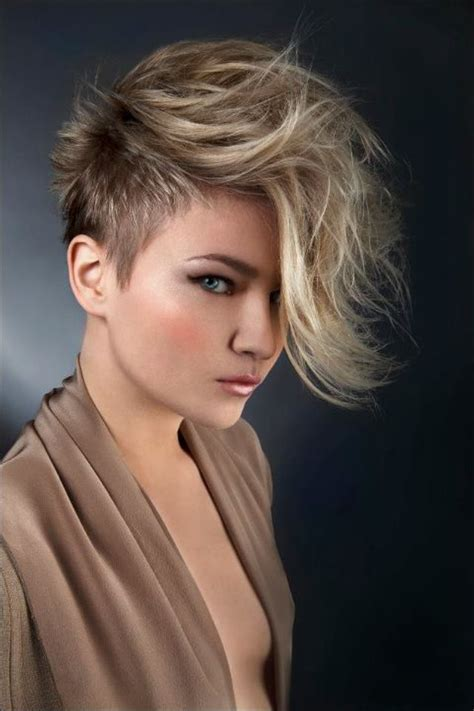 short hair on sides long on top women short sides long top mohawks pinterest