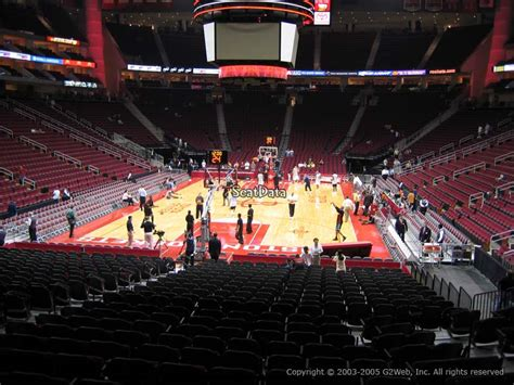 section 114 toyota center toyota center section 126 seat views seatscore rateyourseats