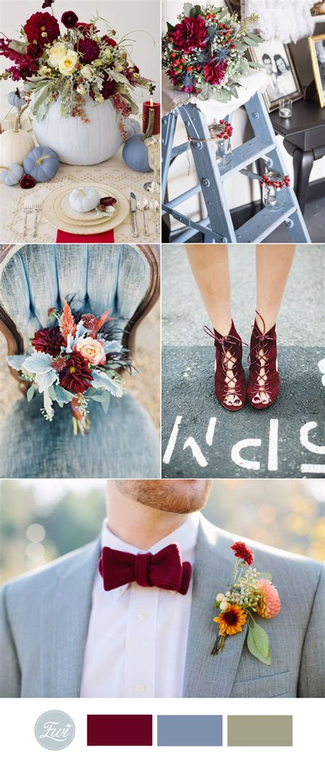 october wedding colors top 10 fall wedding color ideas for 2017 trends