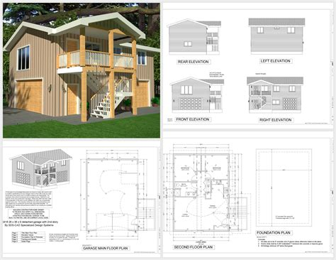 Garage Apartment Plans by G418 Apartment Garage Plans Sds Plans