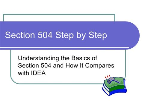 accommodations under section 504 introduction to section 504 09 08