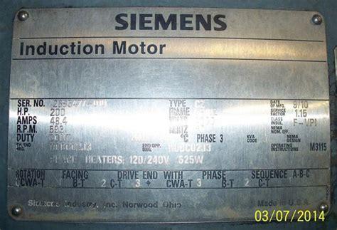 induction motor explained siemens induction motor nameplate motor