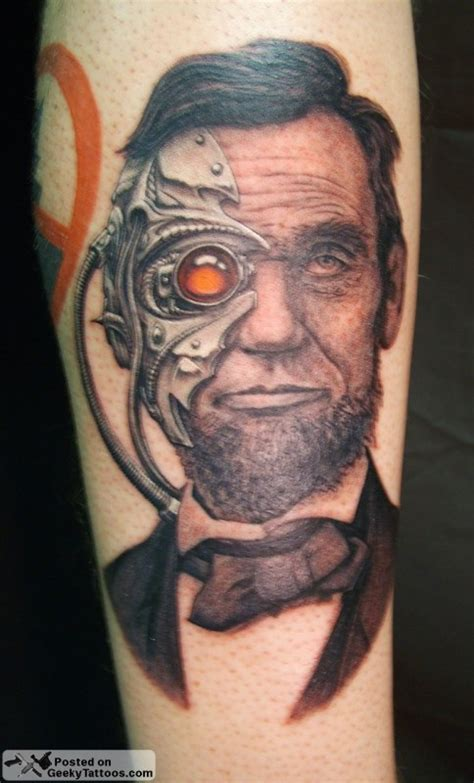 abraham lincoln tattoo abe borg ham lincoln neatorama