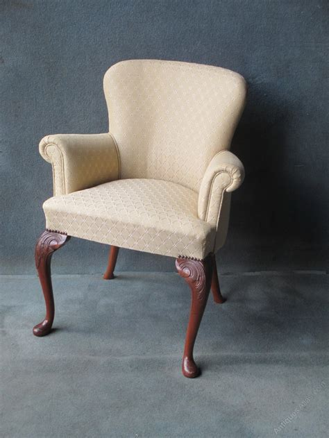 Scroll Arm Chair Design Ideas A Mahogany Cabriole Leg Scroll Arm Chair Antiques Atlas