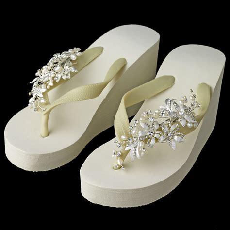 Mimosa Pearl Bridal Flip Flops Elegant Bridal Hair
