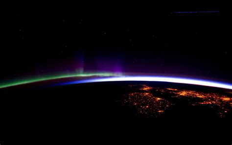 northern lights from space northern lights from space walldevil