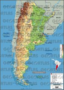 argentina physical map geography argentina s climate change
