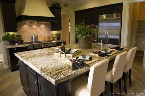 Corner Kitchen Island by Pictures Of Kitchens Traditional Black Kitchen Cabinets