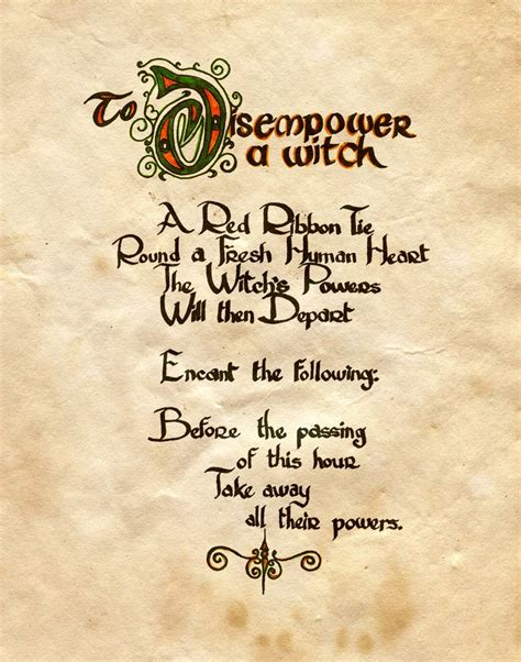 the magic of traveling follow the locals books quot to disempower a witch quot charmed book of shadows