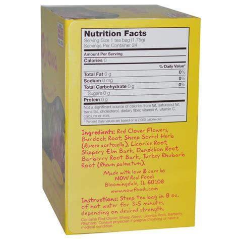 Ojibwa Detox Tea by Now Foods Ojibwa Herbal Cleansing Tea 24 Tea Bags