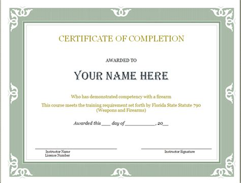 Class Completion Certificate Template Cloud Trainer Completion Certificates Preschool Ccw Certificate Templates