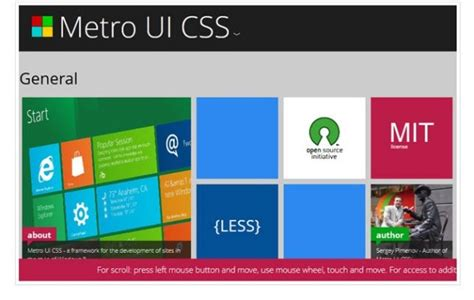 tutorial metro ui css a comprehensive showcase of fresh cooked resources and