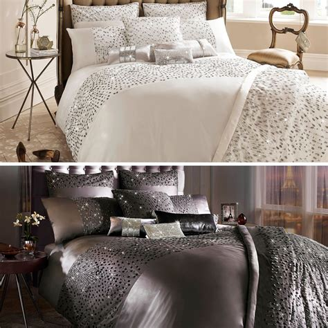 at home comforter sets kylie minogue at home eva luxury sequin satin cotton duvet
