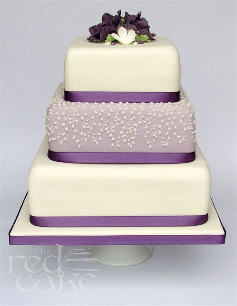 square wedding cake lilac square wedding cake