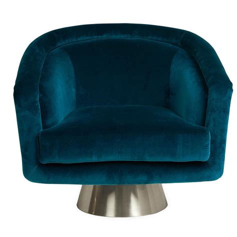 Quot Percilla Quot Chair Horchow Teal Swivel Chair
