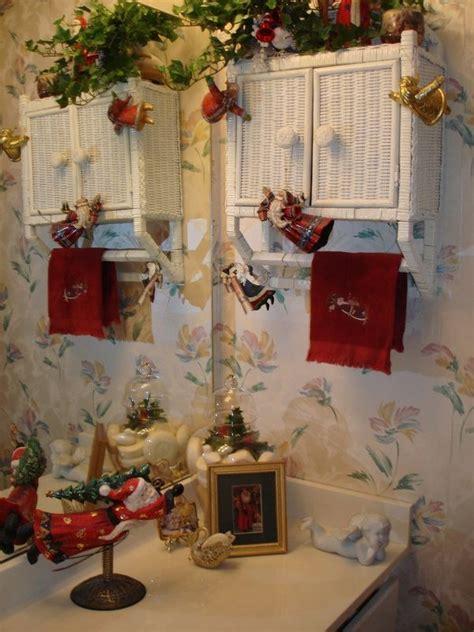 holiday decor christmas bathroom bathrooms pinterest