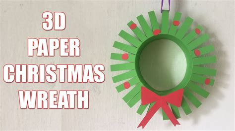 How To Make A Paper Wreath - how to make a 3d paper wreath