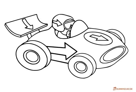 coloring page of race car driver race car driver coloring pages printable race best free