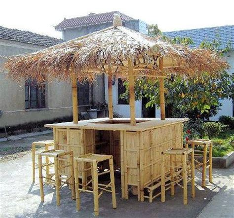 backyard tiki bar sets island style natural bamboo tiki style bar 6ft x 6ft es 1
