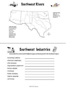 Southwest Region Unit Activity Booklet or Interactive
