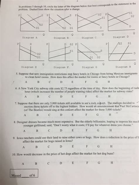 Explanation Letter Answer In Problems 5 Through 10 Circle The Letter Of The Chegg