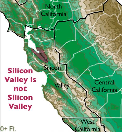 silicon valley map silicon valley geocurrents
